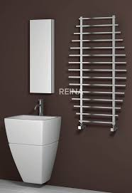 Utterly unique with its sleek and curvaceous design, the Reina Enna  Stainless Steel Heated Towel Rail is a fabulous blend of performance and  style.