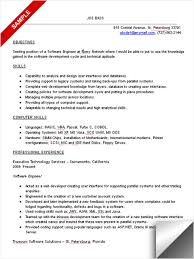 software resume objective