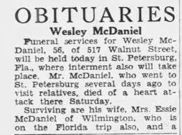 Wesley McDaniel - Newspapers.com