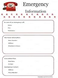 Emergency Card Template Printable Cards Free No Download Medical Information Card Template
