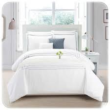 hotel collection gray embroidered duvet set