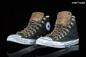 customade converse chuck taylor high top leather spikes by mark leone