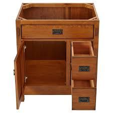 60 Inch Single Sink Vanity Cabinet 30 American Craftsman Vanity For Undermount Sink Rustic Oak Wood