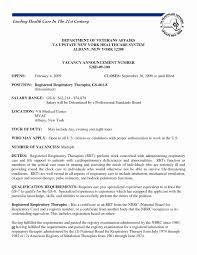 Respiratory Therapist Resume Sample Unique Cover Letter Free