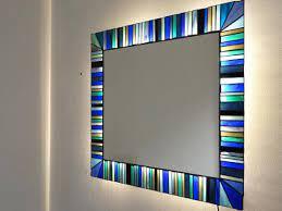 wall mirror mosaic wall art bathroom