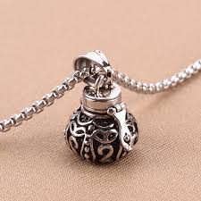 2019 tibetan openable 316l stainless steel memorial vintage jewerly cremation ashes urn pendant necklace keepsake men women funeral jewelry urn from