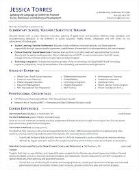 Substitute Teacher Resume Cool Resumes Teaching Best Teacher Resume Positions Creer Pro Resume