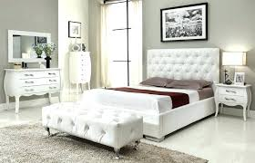 White Bedroom Set Contemporary Modern Furniture Canada Led Lights ...