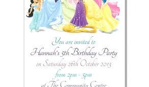 Disney Princess Party Invitations Free Bahiacruiser