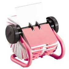 girly office supplies. Girly Desk Accessories: Pink Rolodex Business Card Rotary File Office Supplies A