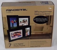 pandigital 7 inch lcd multi frame collage digital picture frame black new