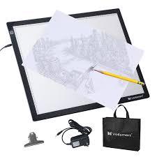 Artist Light Board Voilamart A3 Led Light Box Tracer 12v Ultra Bright Stepless Dimmable Brightness W Memory Function Ultra Thin Led Tracing Art Craft Light Pad Light