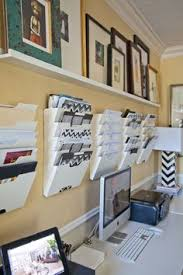 Image Wall Great Idea With The Vertical Filing On The Wall Important Items In Plain Sight Organized Officesmall Office Organizationsmall Pinterest 87 Best Home Office Organization Ideas Images