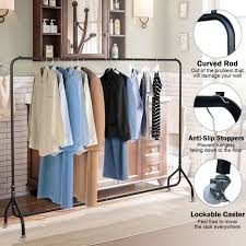 awesome 6ft clothes rack metal garment display rolling portable rail hanger inside metal clothes rack attractive