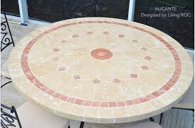 outdoor patio marble stone round 63 table alicante