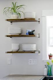 Cabinet Open Shelving Were Loving Open Shelving In The Kitchen And Are Definitely Down To Diy Our Own All You Need Are Brackets From Ikea And The Perfect Piece Pinterest Open Shelving Were Loving Open Shelving In The Kitchen And Are