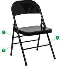 flash furniture hercules series triple braced double hinged black metal folding chair