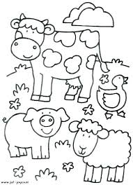 Farm Color Pages Coloring Pages Easy Farm Color Sheets Coloring