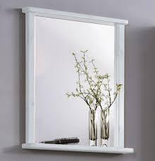 Spiegel 67x78x12cm Kiefer Massiv Weiß Gewachst