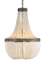 ivory beaded empire chandelier cottage bungalow