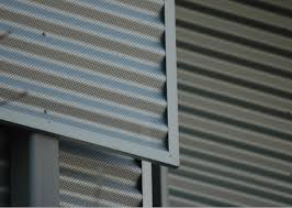 perforated zincalume and colorbond steel makes a great screen wall the perforations are made in a flat coil before the material is rollformed into a
