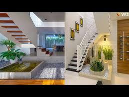 indoor garden under staircase courtyard