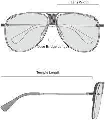 Sunglasses Frame Size Chart Dita Mach One Sunglasses