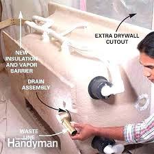install bathtub drain installing a bathtub drain how to install a whirlpool tub the family handyman install bathtub drain
