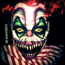 scary clown makeup facepaint by ljmajor86