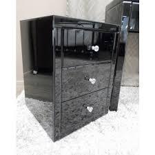 vegas white glass mirrored bedside tables. Black Mirror Furniture Vegas Glass Mirrored Bedside Tables Dresser Modern White Room R