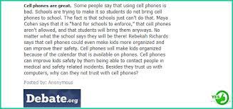 should cell phones be allowed in