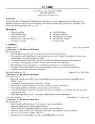 Entry Level Hvac Resume Sample Resume Sample Source