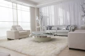 photo 4 of 6 awesome modern white living room with large white fur rug superb large fur rugs good