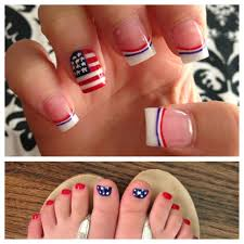 Pedicure Nail Designs 2013 My Fourth Of July Nails 2013 Red Nails Toe Nails Trendy