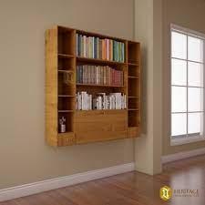 brown rectangular teak wood wall mount