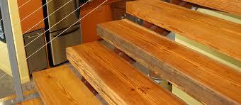 Reclaimed Antique Heart Pine Custom Stair Treads