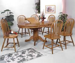 oval kitchen table set. Crown Mark Windsor Solid 7 Piece Oval Dining Table And Side Chairs From Most Kitchen Art Set A