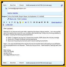 Sample Letter To Send Resume Cover Letter Email Sample Resume Templates Design For Format