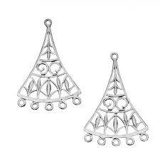 get ations sterling silver drop fan chandelier earrings findings 37mm