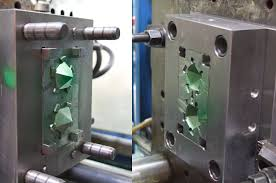 metal mold ready for injection