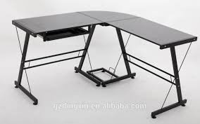 glamorous tempered glass desk in modern office computer table models dx 402c