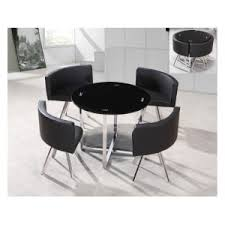 Image Wood Seconique Caravelle Blackclear Glass Small Dining Table Set Chairs Cheap Beds Leeds Cheap Beds Leeds Seconique Caravelle Blackclear Glass Small Dining Table Set