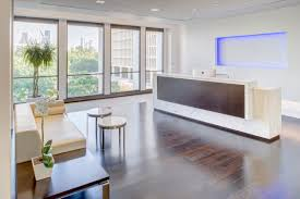 Abundant natural light and spectacular treetop views showcase the downtown  Houston skyline of the firms hometown. Energy Architecture