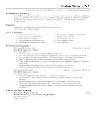 Free Example Resume Enchanting Cna Resume Example Example Of Resume Resume Examples Resume Summary