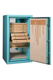 large luxury jewelry safe with light wood drawers and necklace rack for jewelry organization and security custom design your home safe to fit your style