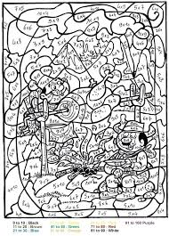 Printable Color By Number For Adults Characters Coloring Pages Pdf
