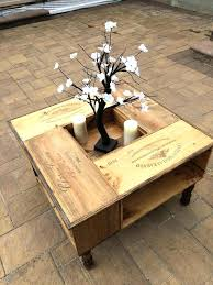 instructions crate wine coffee table