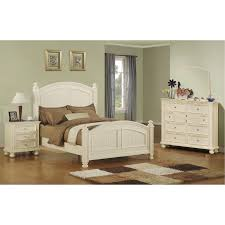 Classic Eggshell White 4 Piece Queen Bedroom Set - Cape Cod | RC ...