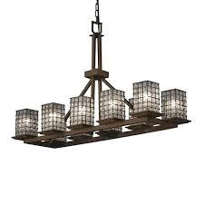 rectangular glass chandelier glass fringe rectangular chandelier