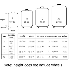 Travel Luggage Size Chart Red And White Plad Basic Design Luggage Suitcase Protective Cover